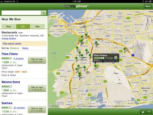 L'app di Trip Advisor.