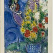coppia di amanti e fiori marc chagall