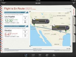 Schermata dell'app Flight+.