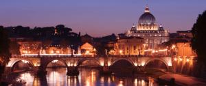 Vista di San Pietro a Roma.