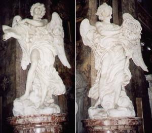 I due Angeli nella Chiesa di Sant'Andrea delle Fratte