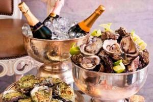 ostriche, lusso, cena