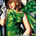 Tamara de Lempicka, donna in verde