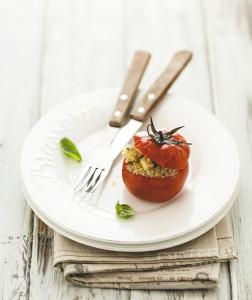 pomodori ripieni quinoa e tofu