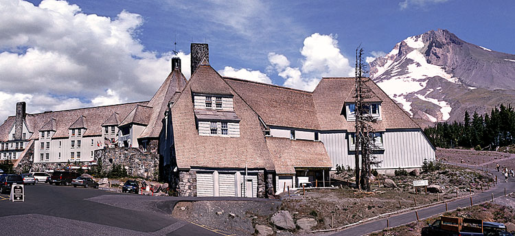Timberline Lodge in Oregon shining