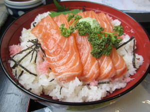 Domburi di salmone