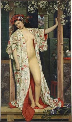 La giapponese al bagno (1864) tissot