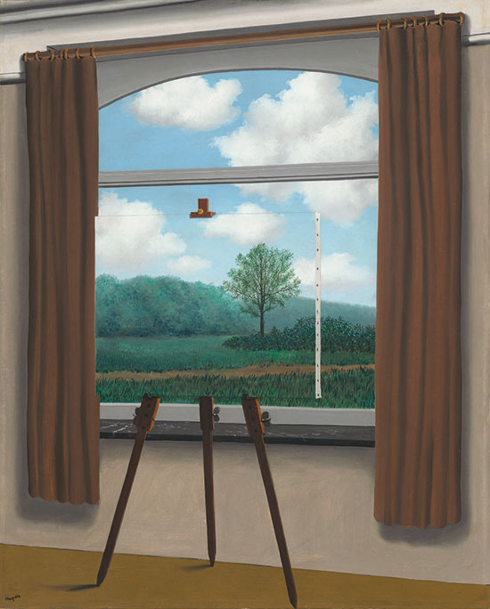 René Magritte: La Condition humaine, 1933, Olio su tela, Washington, National Gallery of Art