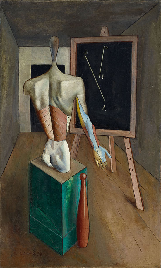 Carlo Carrà: Solitudine, 1917 Olio su tela, Collezione privata