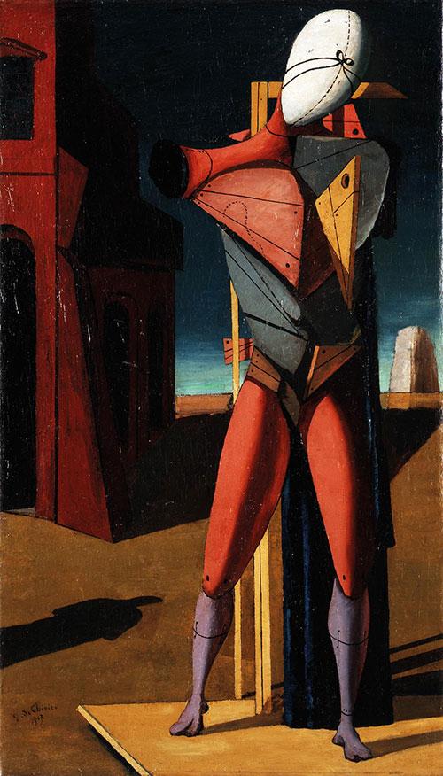 Giorgio de Chirico: Il trovatore, 1917 Collezione privata