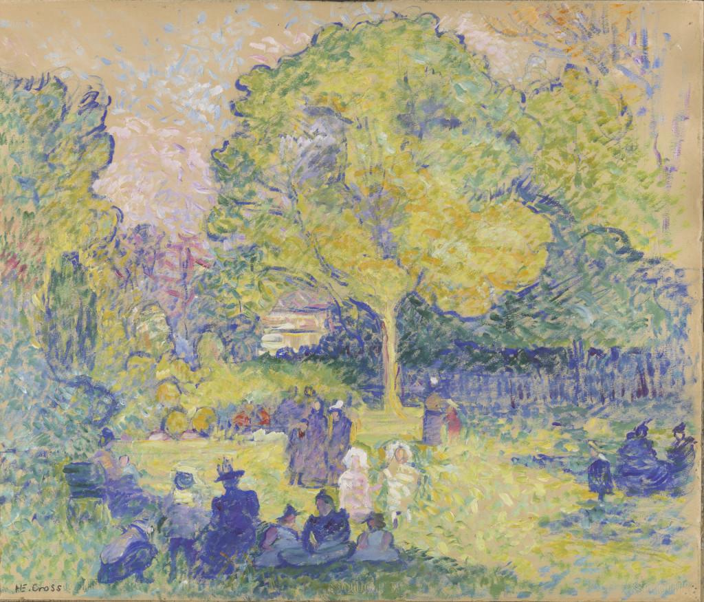 """Studio per """"Le Ranelagh"""": Parco con figure (1889 ca.)"""