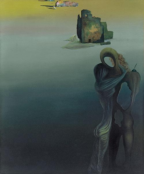 Salvador Dalí: Gradiva retrouve les ruines anthropomorphes (fantaisie rétrospective), 1931-32 Olio su tela, Madrid, Museo Thyssen-Bornemisza Dalì