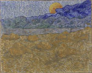 Paesaggio con fasci di grano e luna che sorge (Van Gogh)