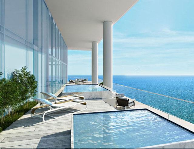 Porsche in ascensore piscina in balcone e yacht sotto - Ascensore in casa ...
