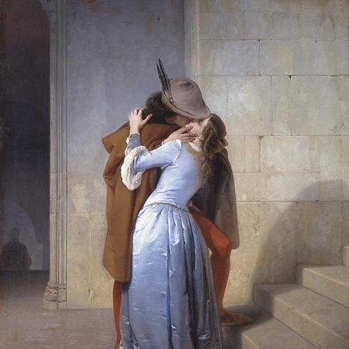 Il bacio, 1859