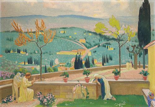L'Annunciazione a Fiesole Maurice Denis (Granville 1870-Parigi 1943) 1928, olio su tela, cm 65,3 x 92. Collezione privata.