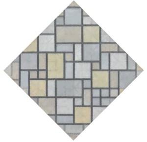 Composizione con griglia 5_ losanga, composizione con colori 1919