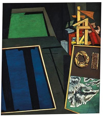 Giorgio de Chirico Natura morta evangelica I, 1916 Olio su tela, cm 80,5 x 71,4 Osaka City Museum of Modern Art