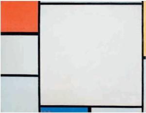composizione con rosso giallo blu 1928