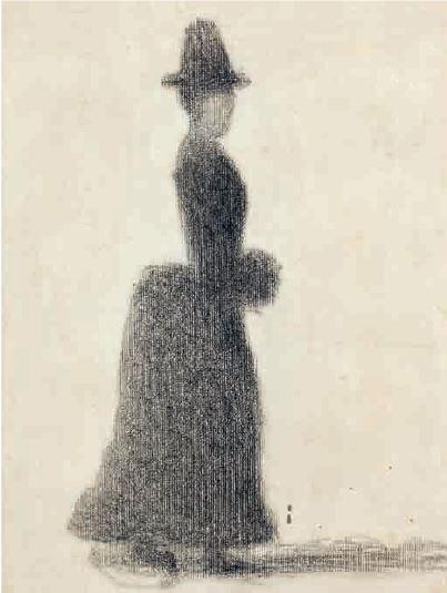 Donna con manicotto (Seraut, 1884)