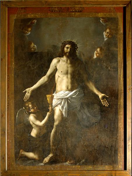 Stendardo di San Martino, San Martino al Cimino (Viterbo), Museo dell'Abbazia di San Martino, olio su tela, cm 268 x 203