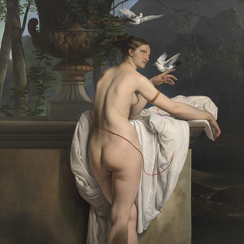 Venere che scherza con due colombe (Ritratto della ballerina Carlotta Chabert), 1830