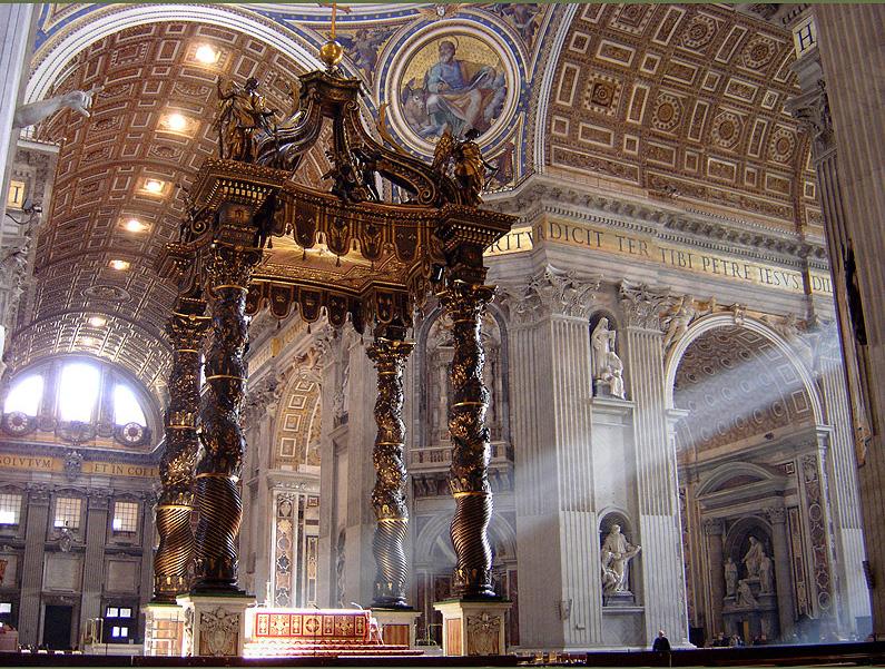 Baldacchino dell'Altare Papale