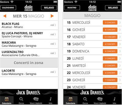 date concerti app
