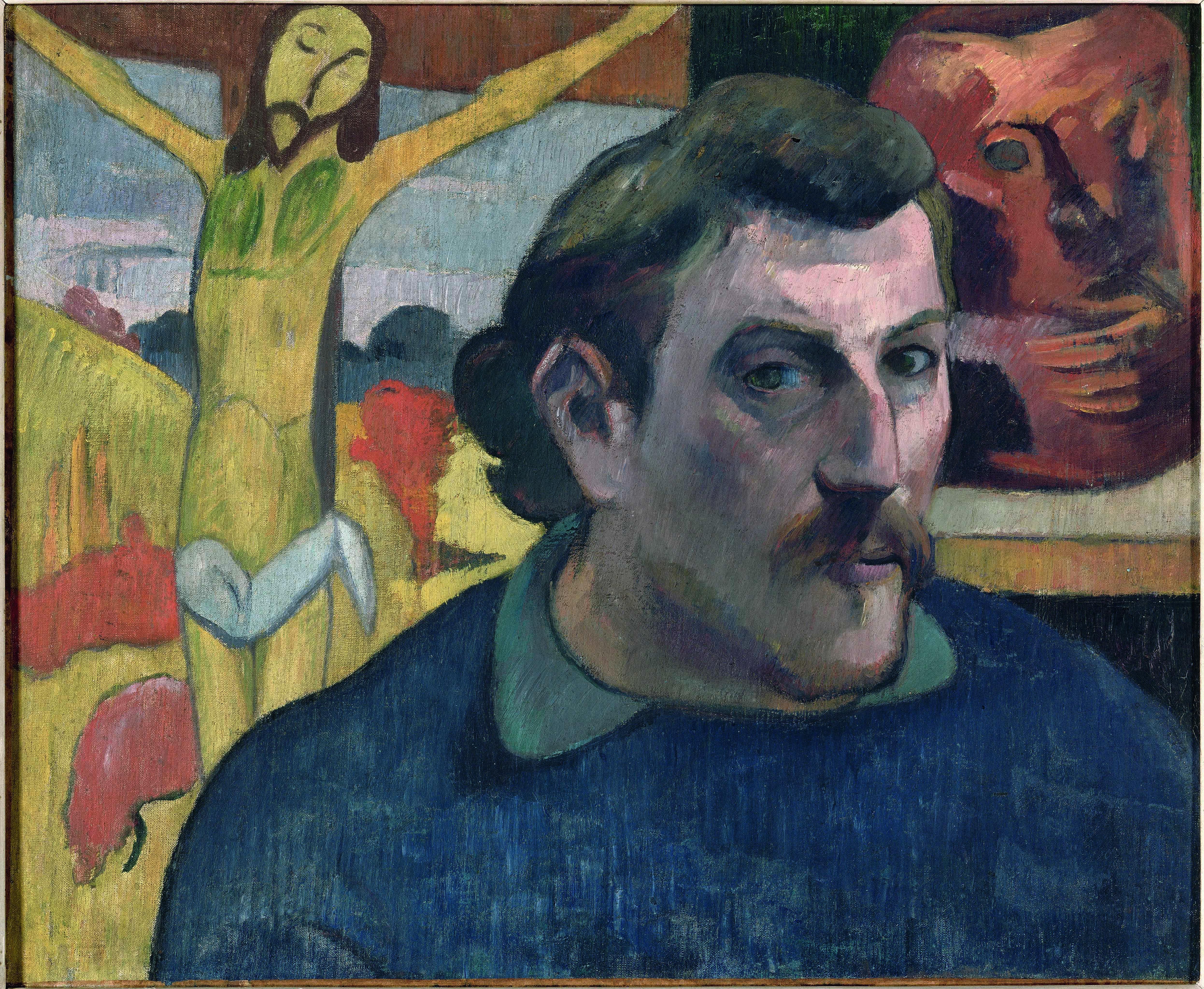 Paul Gauguin Autoritratto con Cristo giallo, 1890‐91 Olio su tela, cm 38 × 46 © RMN‐Grand Palais (musée d'Orsay)/René‐Gabriel Ojéda‐Réunion des Musées Nationaux/distr. Alinari