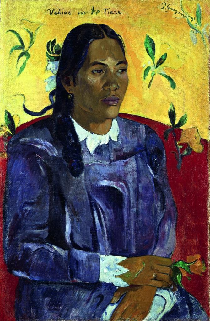 Paul Gauguin Donna tahitiana con fiore, 1891 Olio su tela, cm 70,5 x 46,5 © Ny Carlsberg Glyptotek, Copenhagen /Photo: Ole Haupt