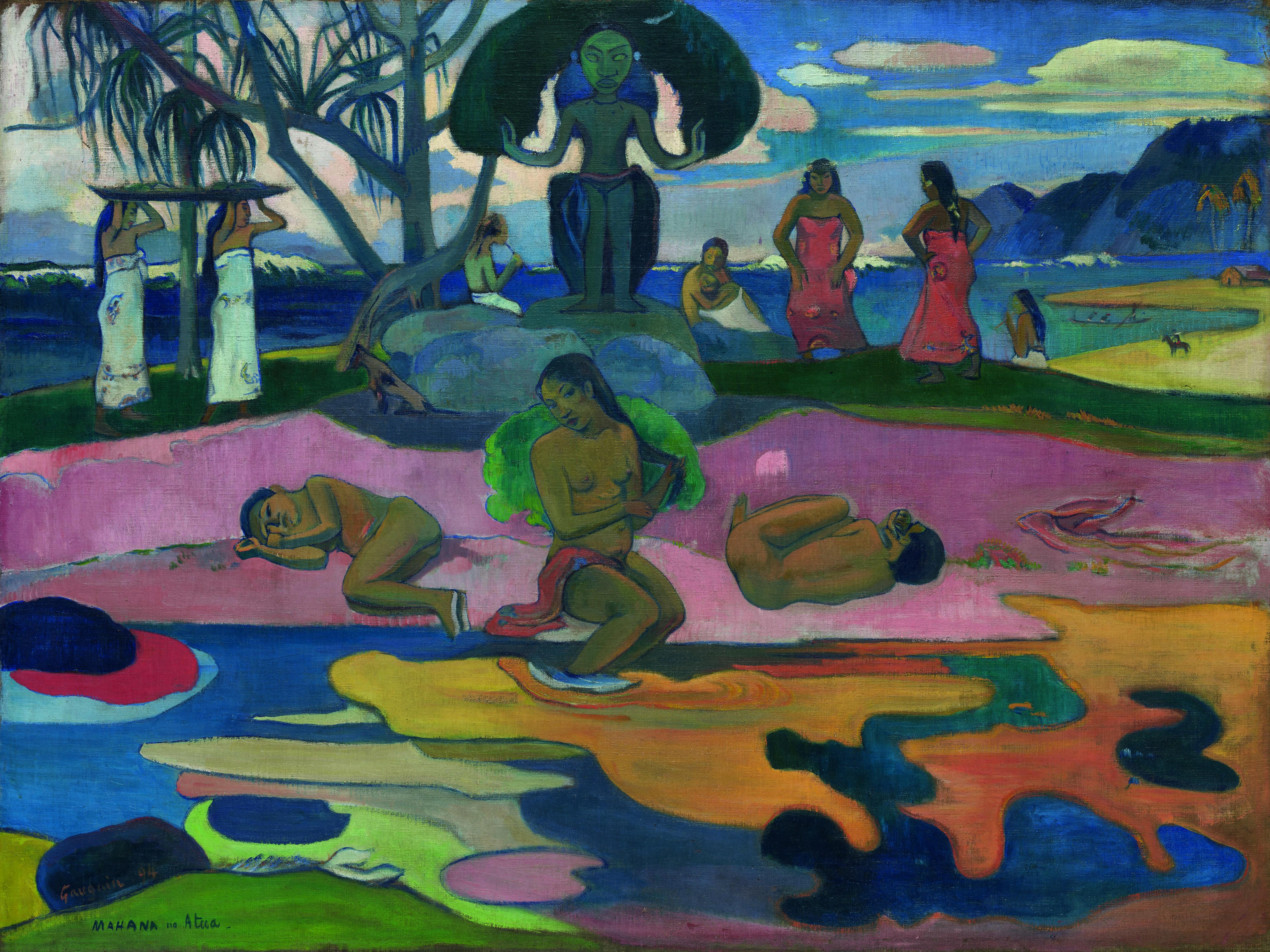 Paul Gauguin Mahana no Atua (Giorno di Dio), 1894 Olio su tela, cm 68,3 × 91,5 © The Art Institute of Chicago