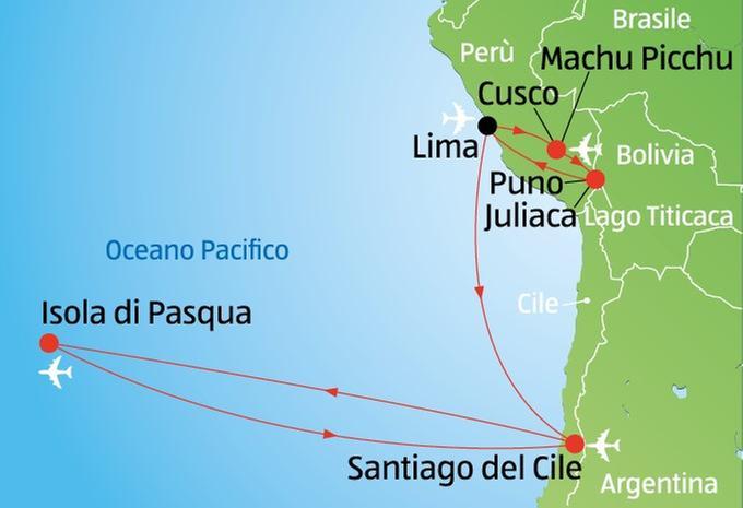 Perù - Cile - Isola di Pasqua
