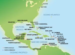 Mappa Usa Caraibi