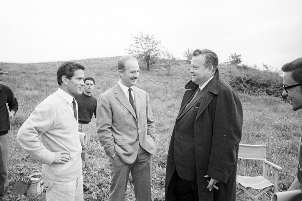 Pier Paolo Pasolini e Orson Welles sul set di La Ricotta