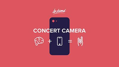 concert camera app