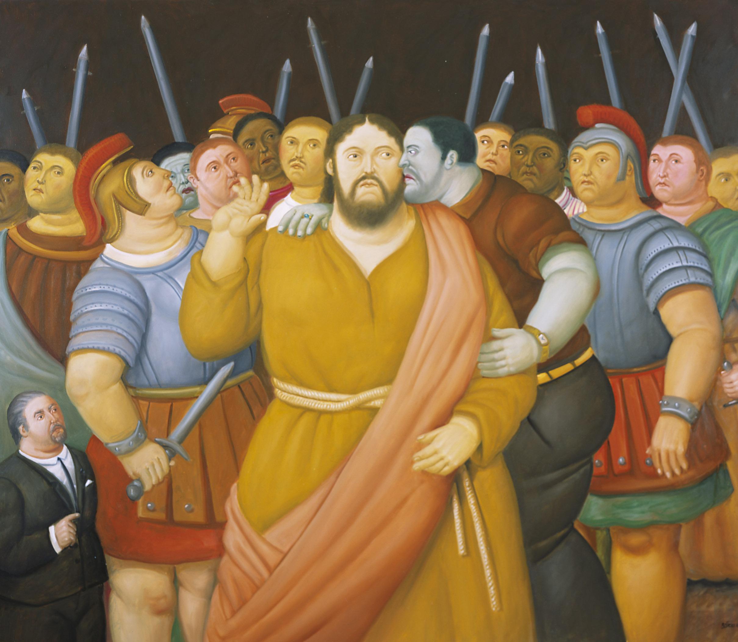 El beso de Judas, 2010 Il bacio di Giuda / The Kiss of Judas Olio su tela / Oil on canvas 138 x 159 cm Medellín, Museo de Antioquia