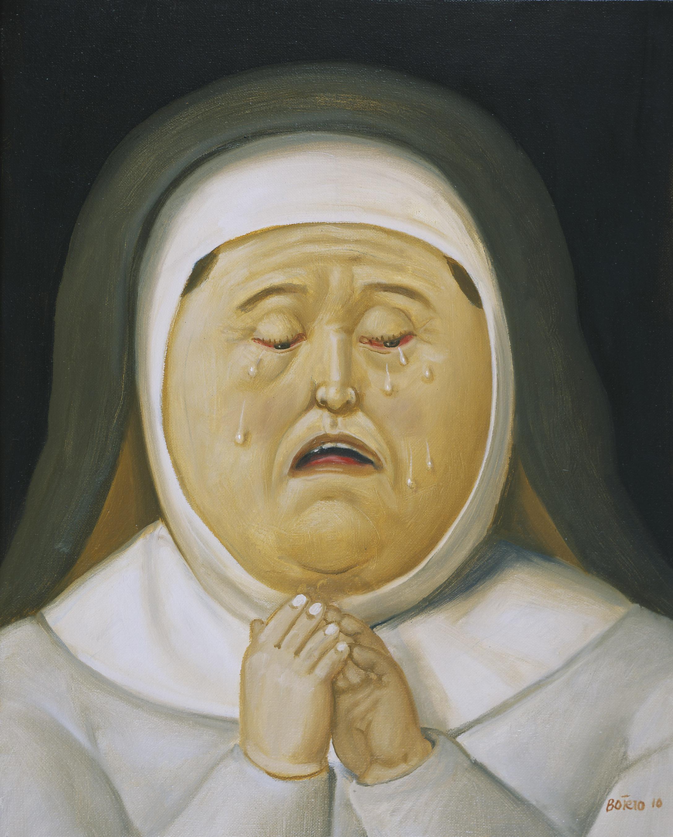 Madre de Cristo, 2010 Madre di Cristo Mother of Christ Olio su tela / Oil on canvas 45 x 36 cm Medellín, Museo de Antioquia