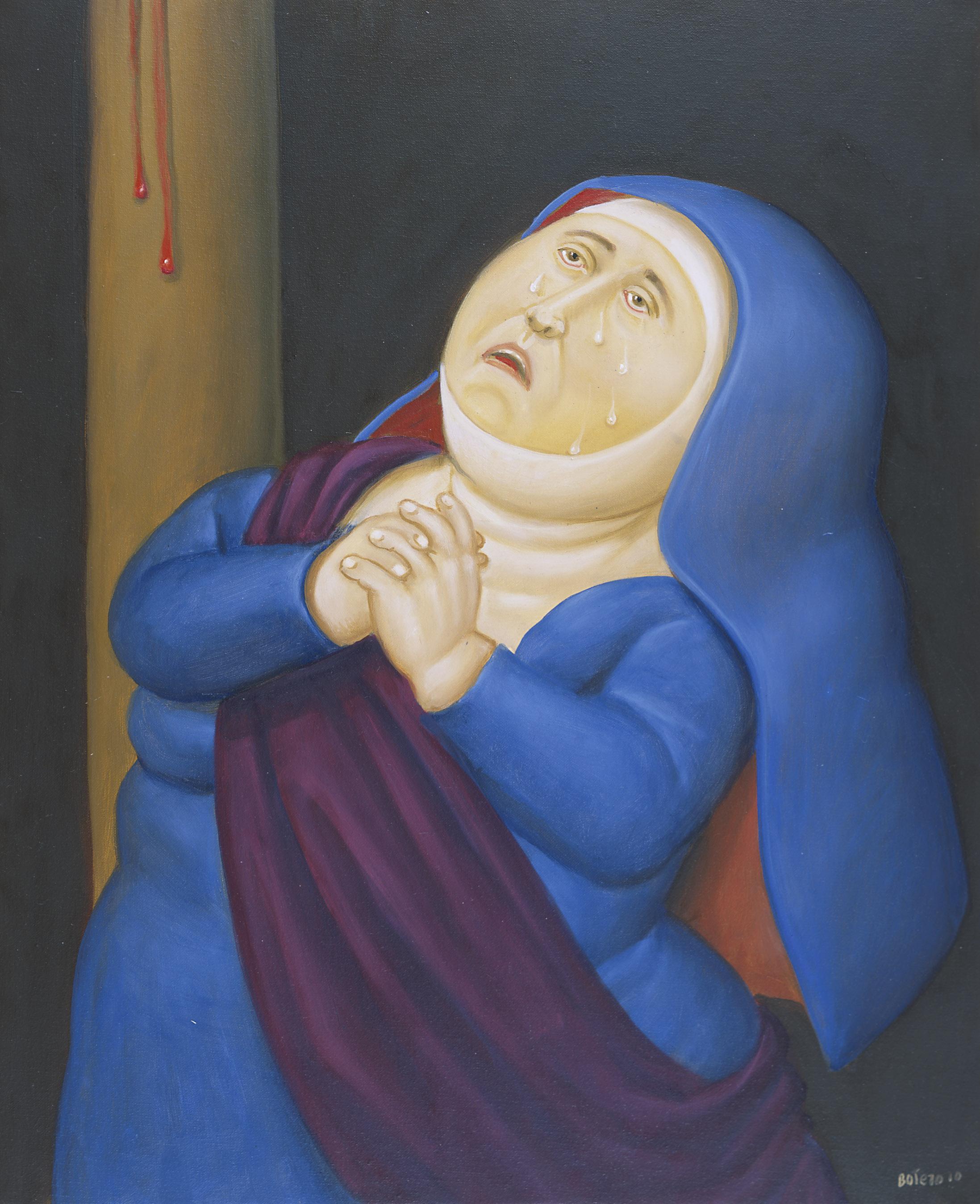Madre afligida, 2010 Madre afflitta / Sorrowful Mother Olio su tela / Oil on canvas 71 x 58 cm Medellín, Museo de Antioquia