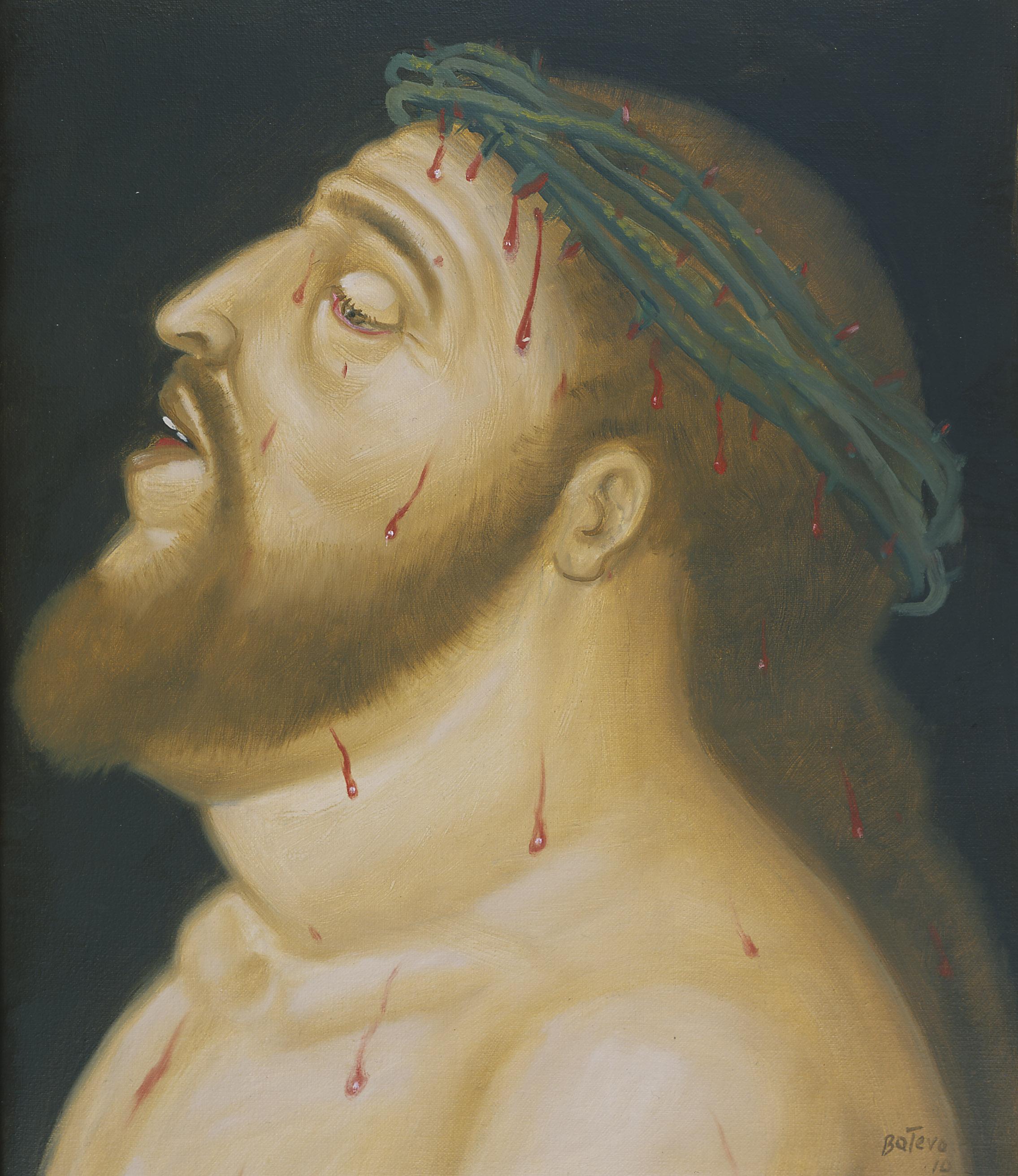 Cabeza de Cristo, 2010 Testa di Cristo / Head of Christ Olio su tela / Oil on canvas 45 x 108 cm Medellín, Museo de Antioquia