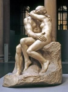A. Rodin, Il bacio (Museo Rodin di Parigi)
