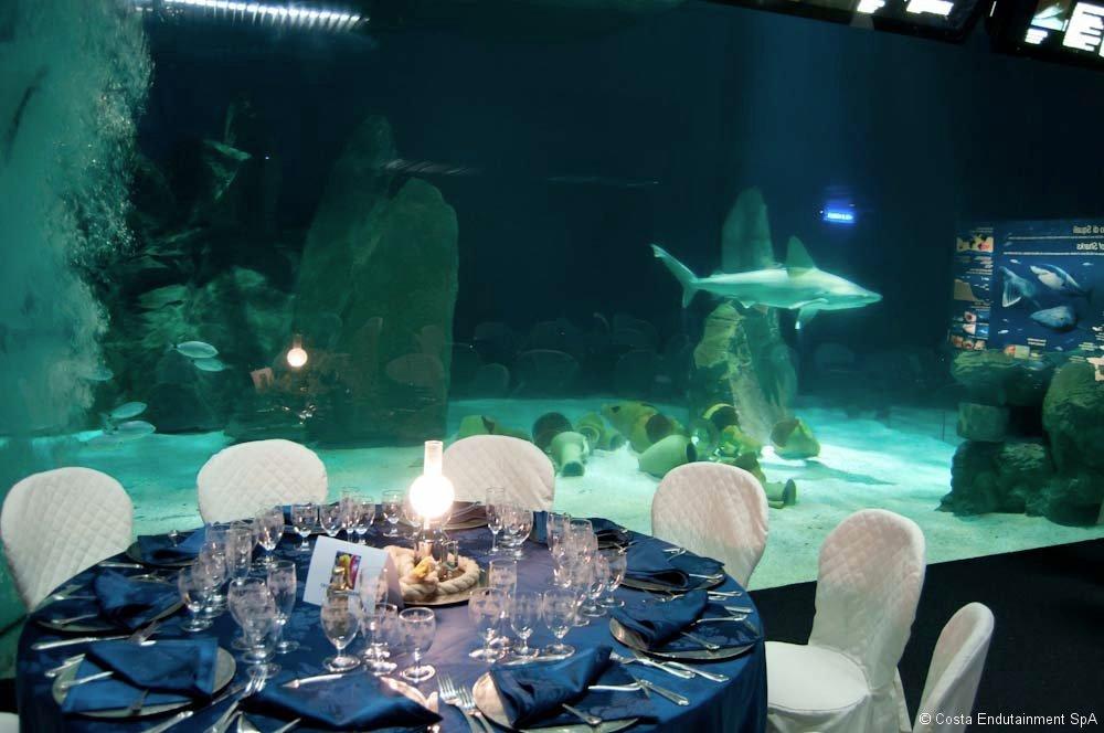 Cena acquario di Genova