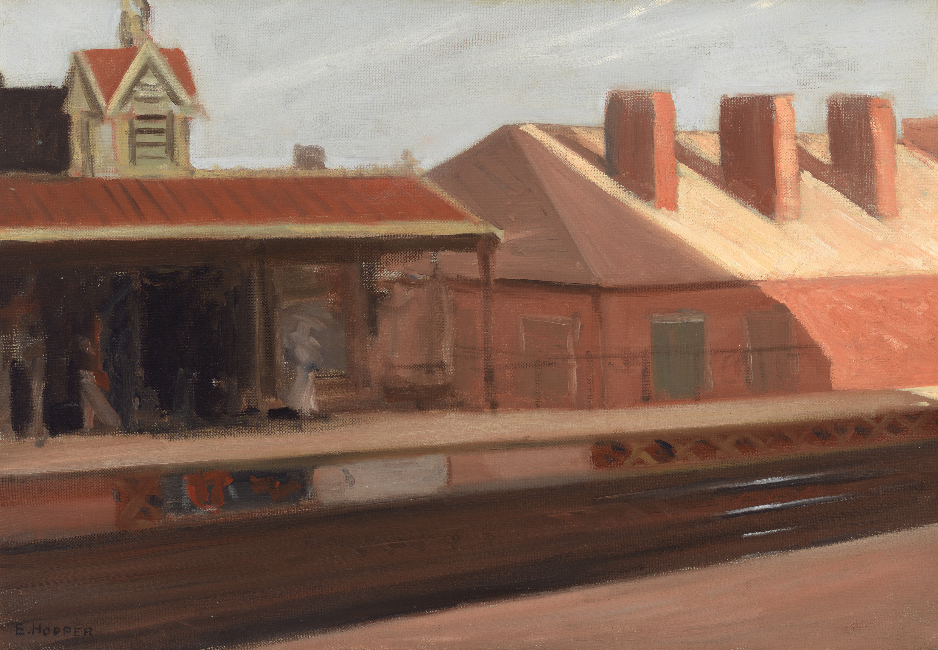 Edward Hopper (1882 1967) The El Station 1908