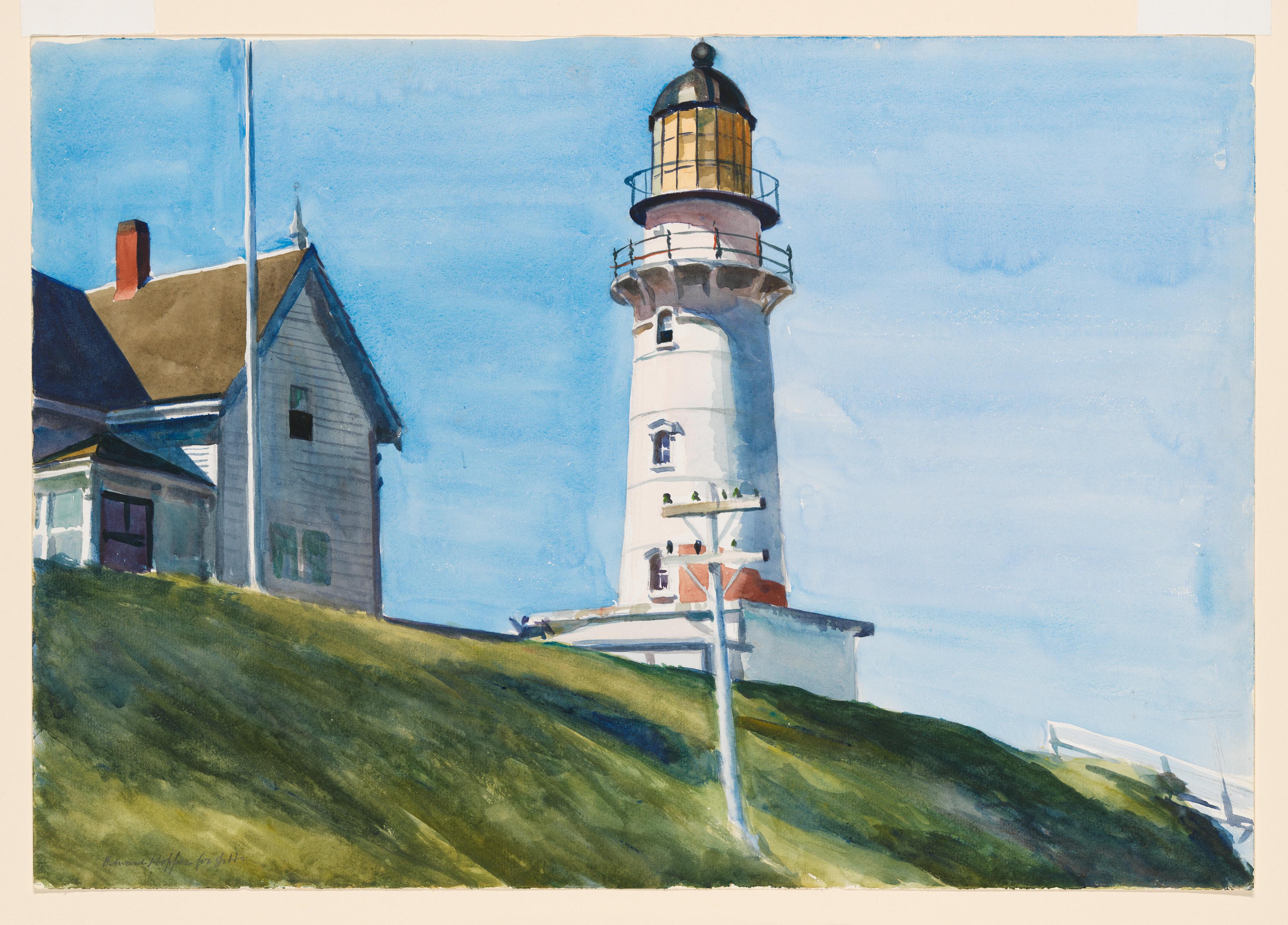 Edward Hopper (1882 1967) Light at Two Lights 1927