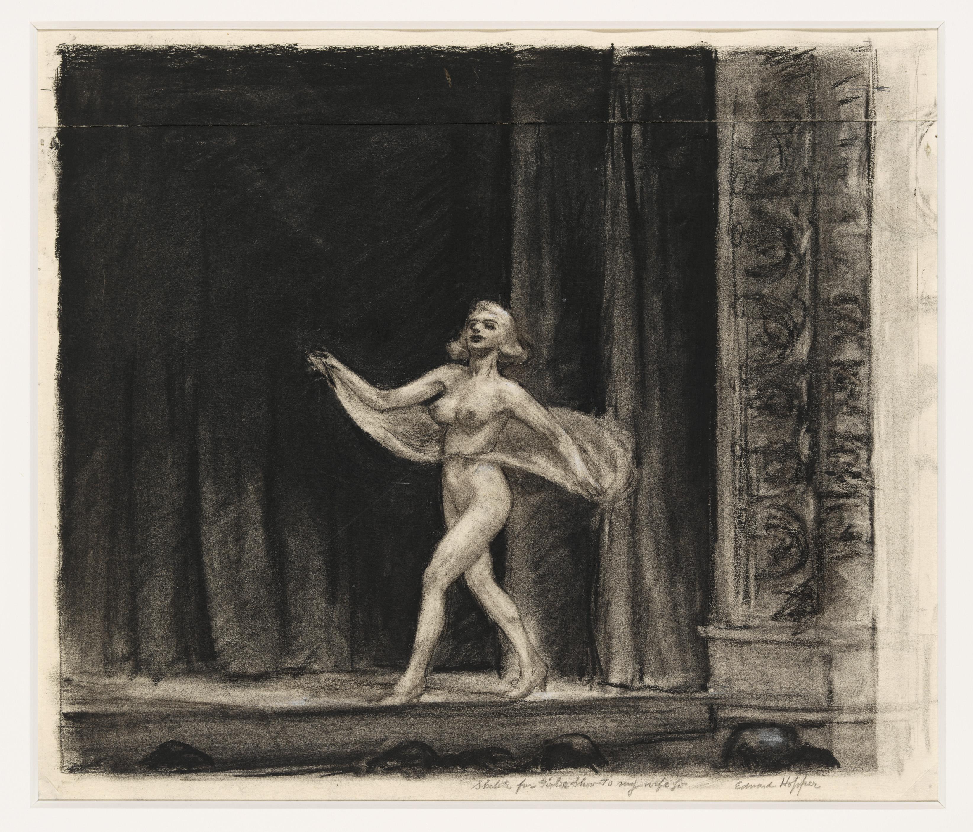 Edward Hopper (1882 1967) Study for Girlie Show 1941