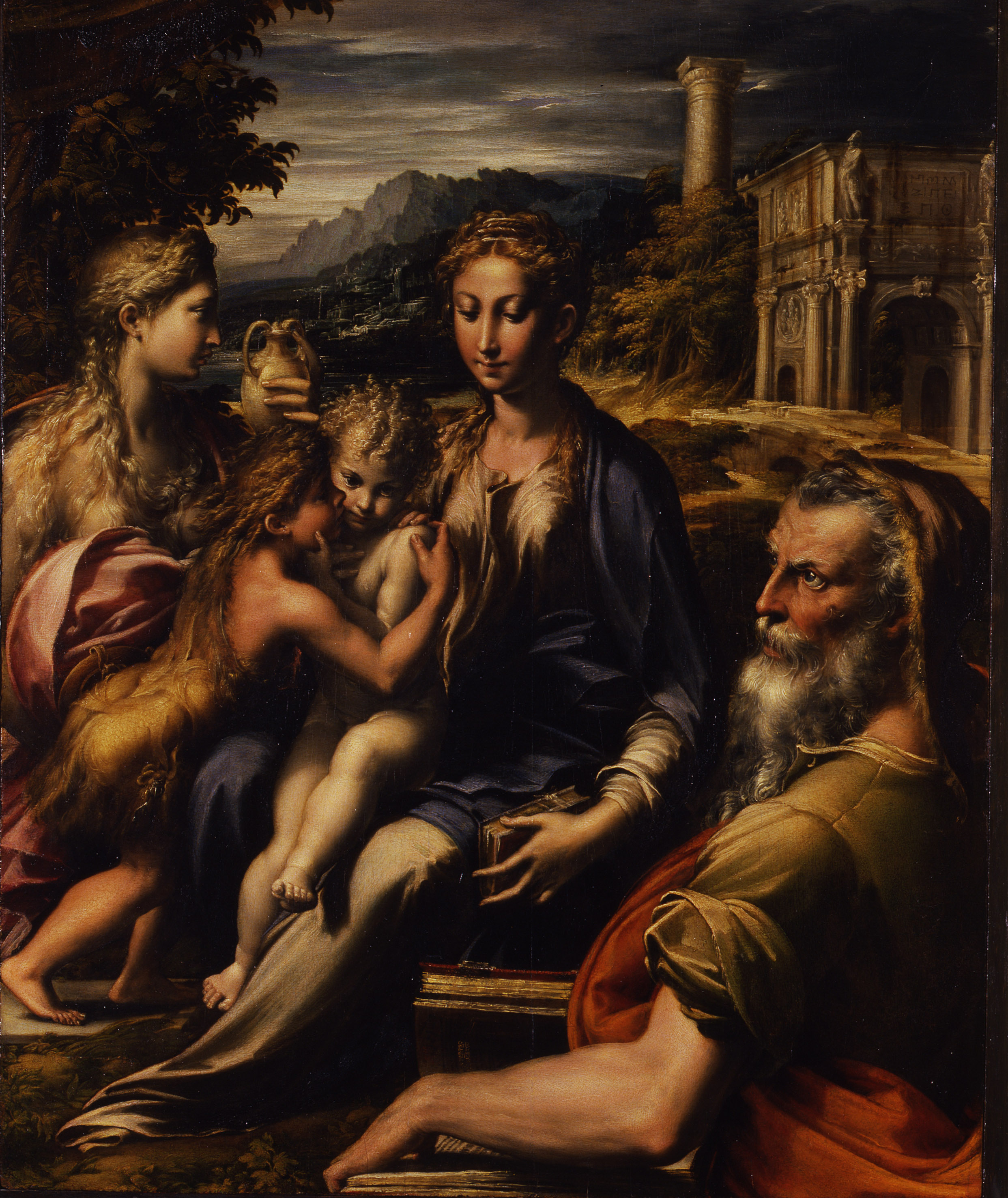Parmigianino (Francesco Mazzola) Madonna di San Zaccaria olio su tavola 74 x 60 cm. Firenze, Galleria degli Uffizi