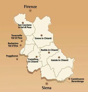 Mappa Chianti