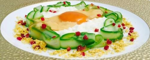Uovo e ricotta di pecora prosciutto iberico e asparagi
