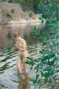 Anders Zorn, Ruscello (Frileuse), 1894 olio su tela, 98 × 66 cm Stoccolma, Prins Eugens Waldemarsudde
