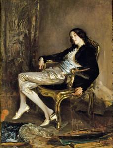 Jacques-Emile Blanche, Il cherubino di Mozart (Le chérubin de Mozart), 1903 circa olio su tela, 156,7 × 117,9 cm Reims, Musée des Beaux-Arts