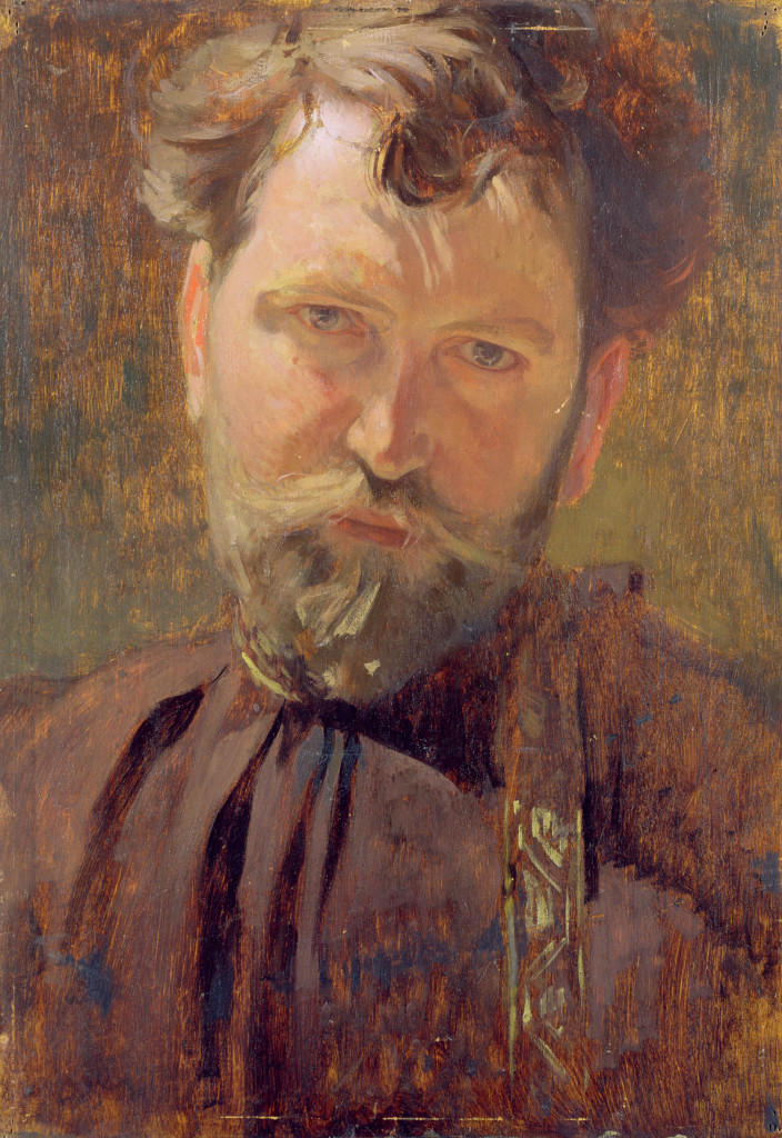 Alphonse Mucha Autoritratto 1899 Olio su tela, 32x21 cm © Mucha Trust 2016